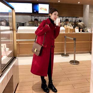 全场一个价/中长款赫本风毛呢外套 ¥138