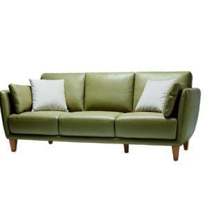 KUKa 顾家家居 8102 简约北欧真皮组合沙发 3人位(含扶手枕*2+抱枕*2) 4099元包邮(双重优惠)