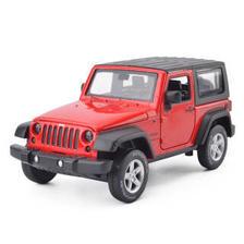 彩珀合金车模1:32吉普牧马人密蓬跑车越野车仿真汽车模型宝宝儿童玩具汽车