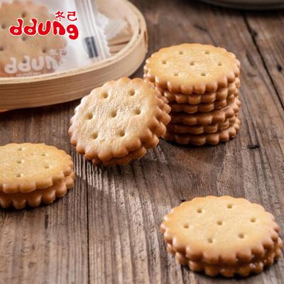 韩国冬己 咸蛋黄麦芽黑糖夹心饼干3包 券后17.5元