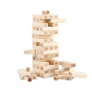 丹妮奇特 (Dan Ni Qi Te)51片层层叠儿童玩具男孩女孩叠叠高抽抽乐抽积木益智玩具 CDN-6148 24元