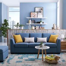 11日0点、历史低价、双11预告:CHEERS 芝华仕 5630 现代简约布艺沙发 三人位 11