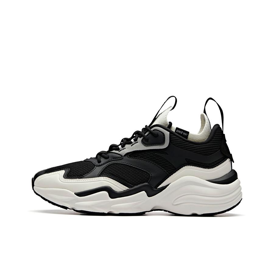 安踏 复古袜套老爹鞋 91938867 黑白 到手价109元