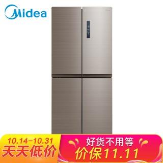 美的(Midea)448升 无霜变频十字对开门电冰箱 一级能效 家用冰箱节能省电 爵士棕BCD-448WTPZM(E) 3399元