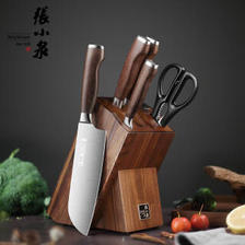 张小泉 不锈钢套刀淳木系列刀具六件套装 菜刀 D31090100 422.1元