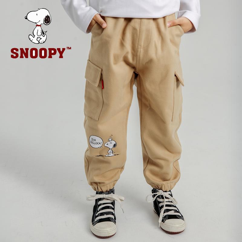 Snoopy 史努比 男童2019春秋休闲工装裤 49元包邮(需领券)