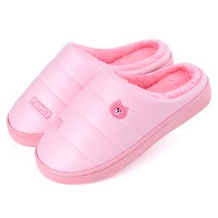 乐拖情侣家居女厚底冬季棉拖鞋 ¥12