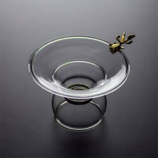 艾芳贝儿(AlfunBel)茶具 茶漏 茶滤 滤茶器 茶隔 高硼硅玻璃过滤器 玻璃茶滤-金鱼C-85-10-4 59元