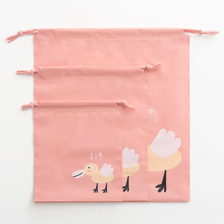 抽绳束口袋脏衣袋防水便携宝宝玩具袋包收纳袋旅行拉绳收口小袋子 7元