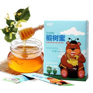 北大荒 椴树蜜 蜂蜂熊系列 东北黑蜂 纯蜂蜜 120g 便携装 *10件 69元(合6.9元/件)