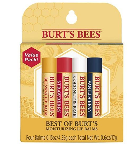 ¥70.82 Burt's Bees小蜜蜂 经典护唇膏4.25g*4支装