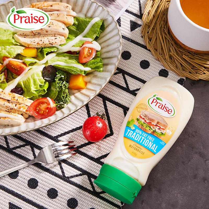 派乐斯 Praise 99%脱脂沙拉酱 410g29元包邮(需领券)