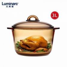京东商城 Luminarc 乐美雅 微晶玻璃琥珀锅 3L+酱料碟2只 189元包邮(双重优惠