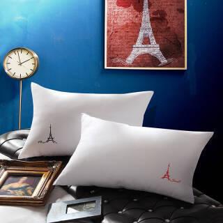 尚玛可家纺 水洗磨毛纤维枕头枕芯成人单人对枕 W-梵诺克.埃菲尔纤维对枕新一代 47*73 59元