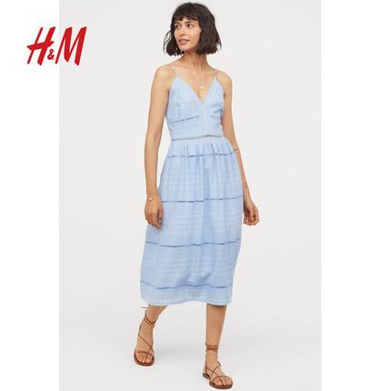 ¥150 H&M 女装 刺绣连衣裙