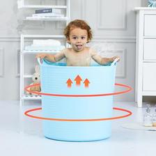 带排水孔 儿童加高防滑泡澡桶 券后¥23.9