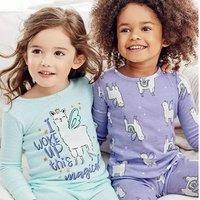 四件套$13.5 Carter's官网 儿童睡衣/家居服3折-3.75折周末热卖