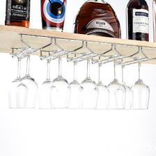 红酒杯架倒挂家用红酒架酒柜摆件高脚杯展示架创意葡萄酒杯架悬挂 6.8元