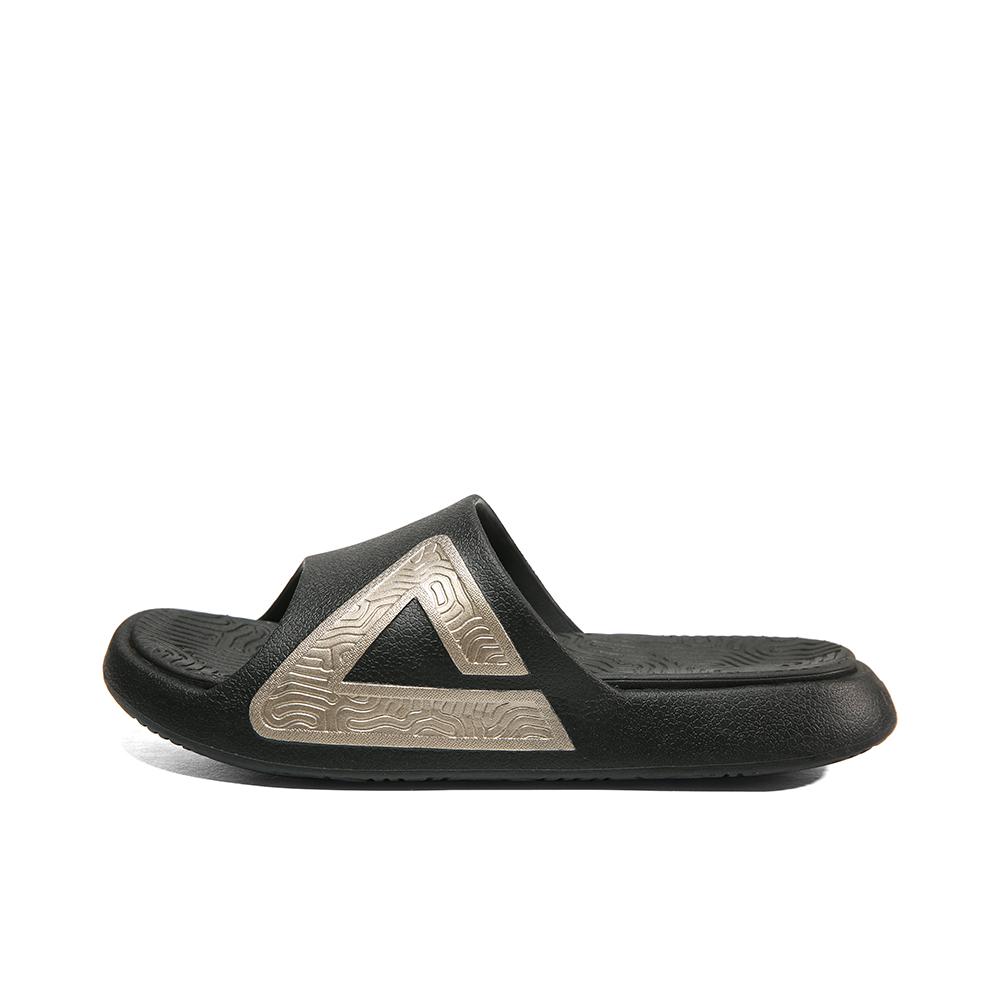 匹克 态极拖鞋 E92037L 黑色/金色 实付到手149元
