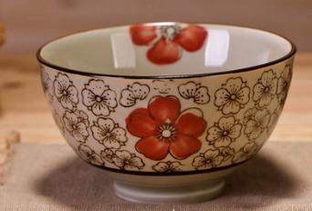 茗轩茶舍 釉下彩陶瓷饭碗 4.25/4.5英寸 2.99元包邮(需用券)