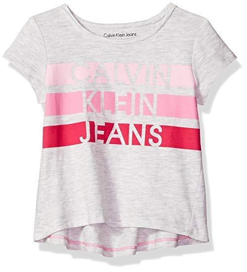 Calvin Klein 女童 Calvin 图案 t 恤 32.2元