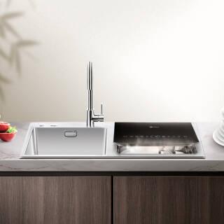 美的( Midea ) 6套 水槽洗碗机 家用活水系统 UV热风烘干 果蔬洗去农残 双槽洗碗机WQP6-8301J-CN(S3) 5349元