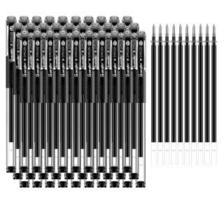 广博(GuangBo)40支装0.5mm中性笔套装(30支签字笔+10支水笔芯) 黑ZX9532D *3件 52.5元
