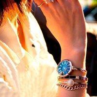 超值价¥373 Anne Klein 施华洛世奇水晶 手表手链四件套