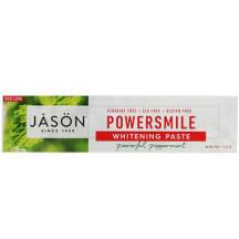 折合27.56元 Jason Natural PowerSmile 抗牙菌斑美白牙膏 强力薄荷 170g
