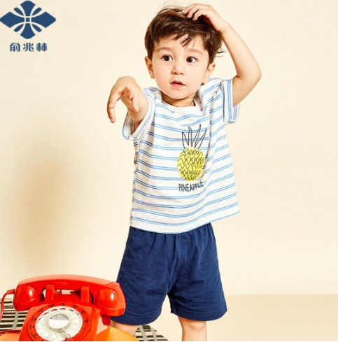 ¥19.9 俞兆林(YUZHAOLIN)童装儿童短袖套装新款男童短袖短裤套装
