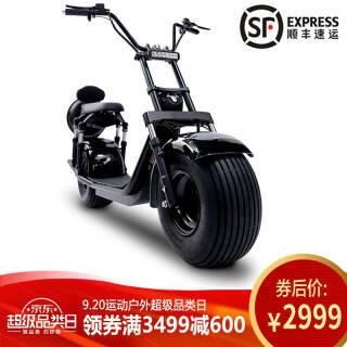 启牛哈雷电动车成人新款代步电动车滑板车X60经典黑 锂电池60v13.6ah 2999元