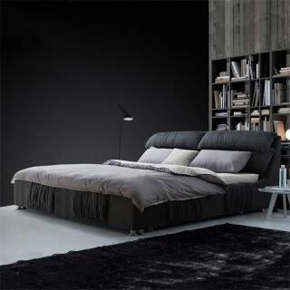 北欧布艺床双人床小户型可拆洗送床垫  券后2499元