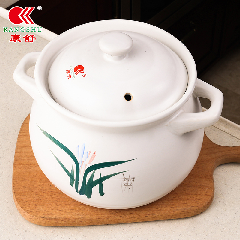 4.9分好评、煲汤神器:康舒 耐高温砂锅 1.65L 19.9元包邮