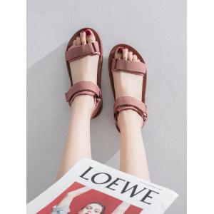 素蕊 女士凉鞋 罗马平底鞋 39.9元包邮 平常80元