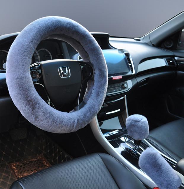 ¥8.8 澳奴羊 兔毛绒保暖汽车方向盘套