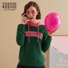 TeenieWeenie小熊女装连帽衫套头字母印花卫衣韩版 *3件 762.45元(合254.15元/件