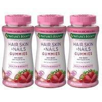 3瓶装¥149 Nature's Bounty 护肤美甲维生素软糖 80粒 草莓味