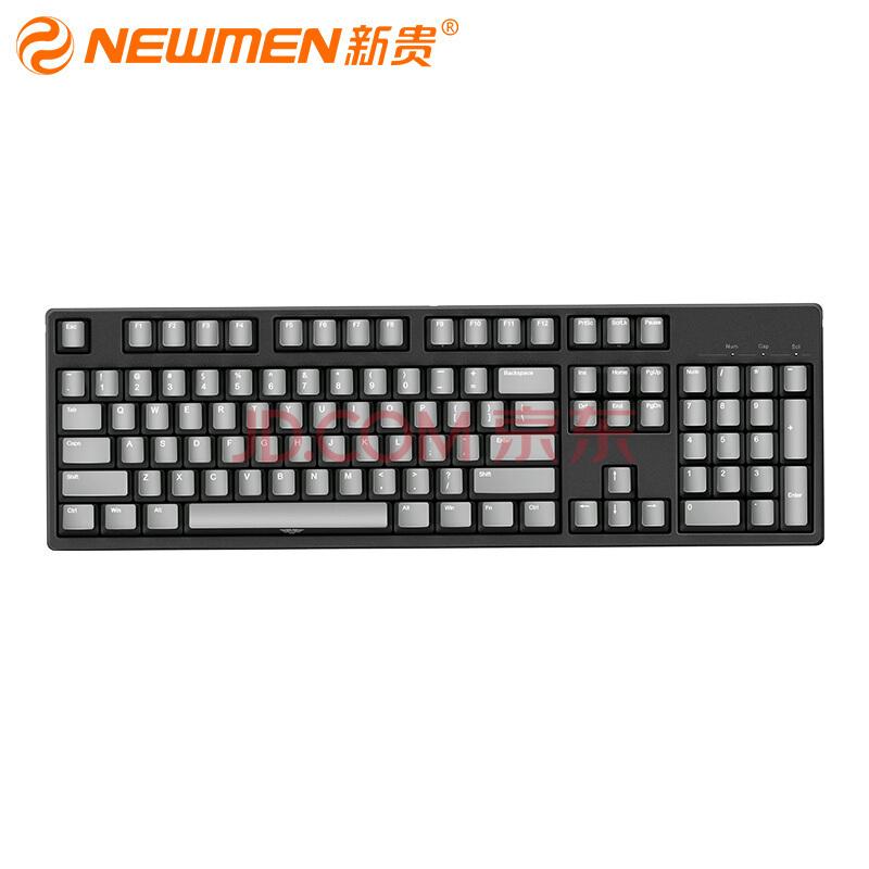¥249 NEWMEN 新贵 C104 机械键盘(Cherry红轴、PBT)