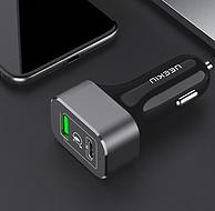 双口多款,neekin耐奥金 USB 17W/63W PD车载快速充电器 18元起包邮