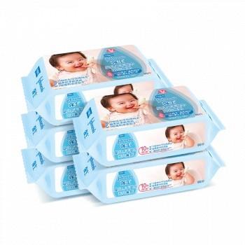 天猫 Johnson & Johnson 强生 婴儿手口湿巾 80片*6包 19.9元包邮(用券立减30元,合3.31元/包)