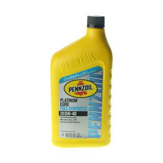 PENNZOIL 鹏斯 全合成机油 Platinum Euro 0W-40 SN 1QT 美国原装进口 64.9元
