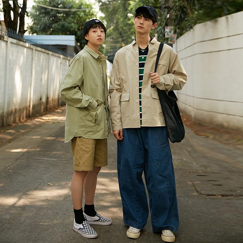 限尺码:江南先生 2503 多口袋工装衬衫 90.3元