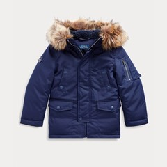 Ralph Lauren 拉夫劳伦 Faux Fur-Trim Down Parka 2-7岁派克羽绒大衣