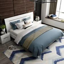 双虎家私 16H1 低箱床+2个床头柜+舒梦床垫 1.8m 2499元包邮