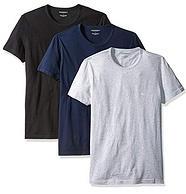 3件装!L码:Emporio Armani 安普里奥·阿玛尼 男士棉质圆领T恤 prime会员到手约2