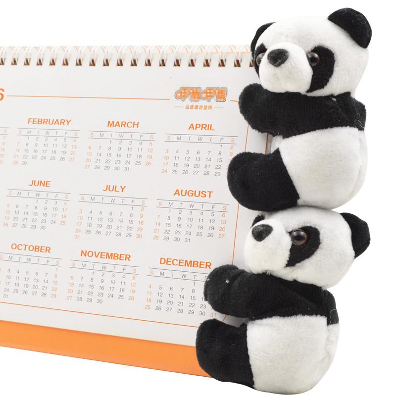 出国纪念品 熊猫夹子毛绒玩具玩偶便签夹子小公仔 送老外小礼物 6元