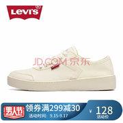 ¥128 Levi's李维斯女鞋帆布鞋韩版潮鞋休闲鞋女士板鞋春夏季学生布鞋潮板鞋 浅黄色229809191972 38'