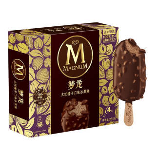 和路雪 梦龙 太妃榛子口味 冰淇淋家庭装 65g*4支 雪糕(新老包装 随机发货) *4件 87.24元(合21.81元/件)