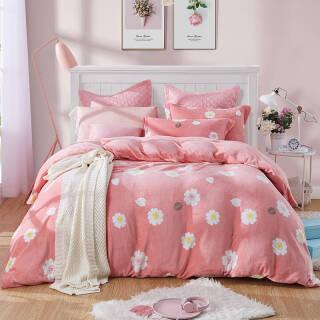 博洋家纺 床上用品 法兰绒秋冬保暖卡通床单四件套 怦然心动 1.8米 149元