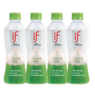 溢福(if )进口100%天然椰子水 NFC果汁饮料 350ml*4瓶 塑膜联包 *3件 67.2元(合22.4元/件)
